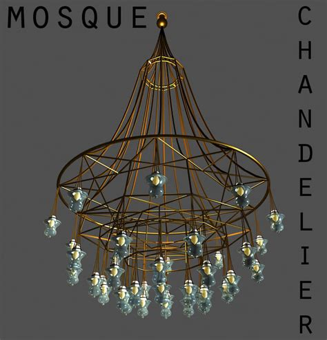 Mosque Chandelier by 3ds Max Mosque Chandelier