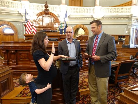 eileen horn takes oath  office   district house seat news sports jobs lawrence