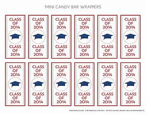 free printable graduation candy bar wrappers templates - mini candy bar templates just b cause