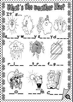 whats  weather  missing letters activity