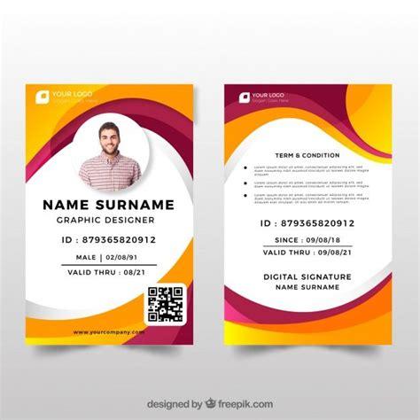 id card template  flat design