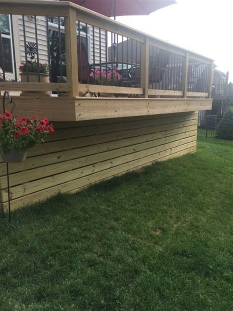 Horizontal Deck Skirting Ideas by Horizontal Wood Deck Skirting Batavia Oh Area Modern