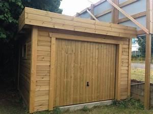Garage En Bois Toit Plat : garage ossature bois faux toit plat bac acier 3 m x 6 ~ Dailycaller-alerts.com Idées de Décoration