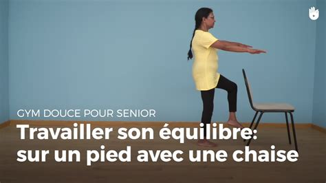 Exercice Gym Douce Sur Chaise