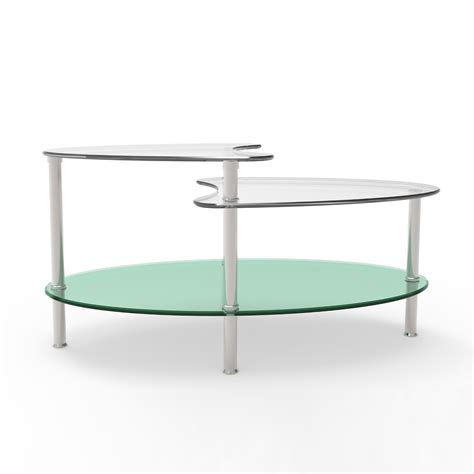 two tier glass coffee table ryan rove becca 38 inch oval two tier glass coffee table