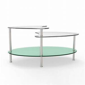 ryan rove becca 38 inch oval two tier glass coffee table With 2 tier glass coffee table