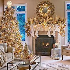 Metallic Holiday Living Room Decor