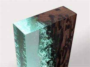 Water Bright is a fragment Venician wood and resin Light