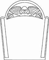 Coloring Pages Tombstone Template Coffin Gravestone Drawing Templates Clipart Headstone Halloween Cartoon Headstones Outline Printable Blank Cliparts Printables Angel Graveyard sketch template