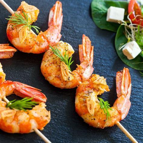 herbes cuisine recette brochettes de crevettes pour apéritif dînatoire facile rapide