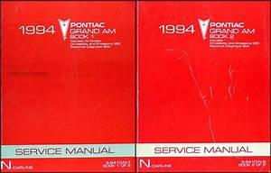 1994 Pontiac Grand Am Repair Shop Manual Set 94 Se Gtp Gt