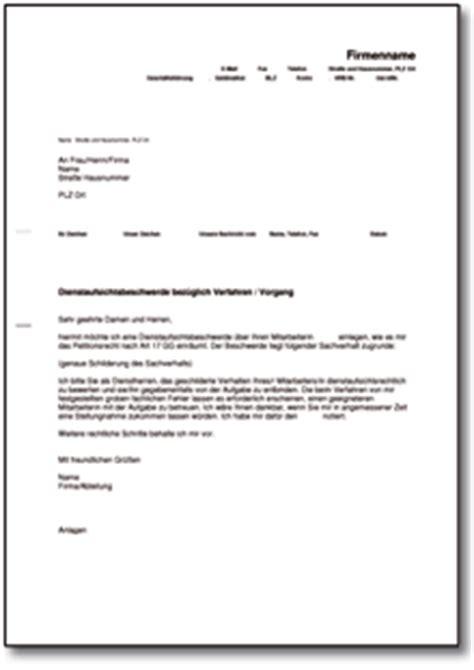 dienstaufsichtsbeschwerde de musterbrief