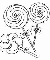 Candy Coloring Pages Printable Chocolate Lollipop Corn Everfreecoloring Bar Gummy sketch template