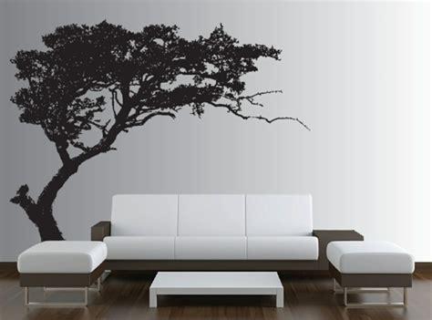 arbre canapas stickers muraux noir et blanc maison design bahbe com