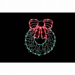 Northlight, 18, In, Lighted, Wreath, Christmas, Window, Silhouette, Decoration-32605985