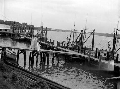 Boat Dock Supplies Jacksonville Fl florida memory view looking toward fishing boats at dock