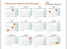 Feiertage 2015 Niedersachsen + Kalender