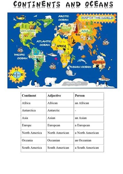 Kontinenti - Uz nas će vas učenje engleskog jezika ...