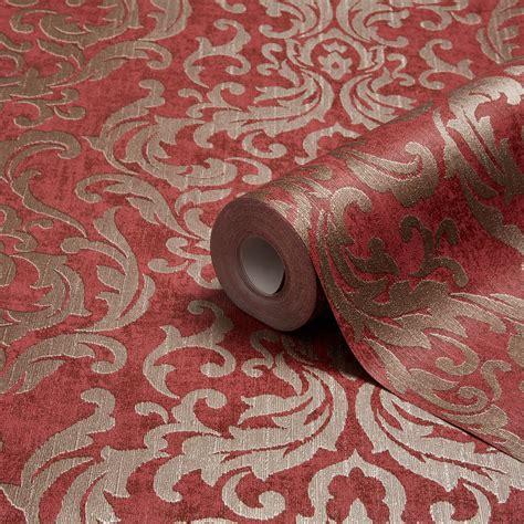 graham brown drama red damask wallpaper departments