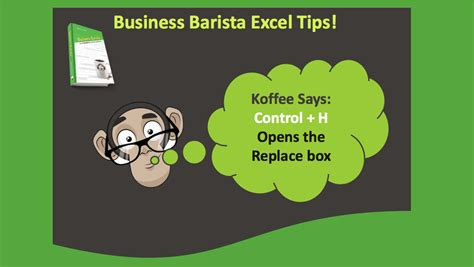 microsoft excel tips control  opens find