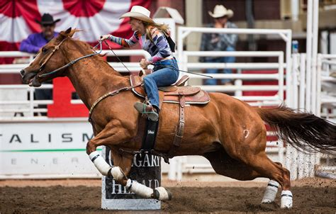 barrel racing sears lindsay calgary horse stampede riding ladies martin race rodeo western cowgirl barrels amazing horses desktop christopher tearing