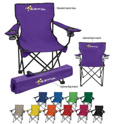 logo premiums folding captian s chair promotional