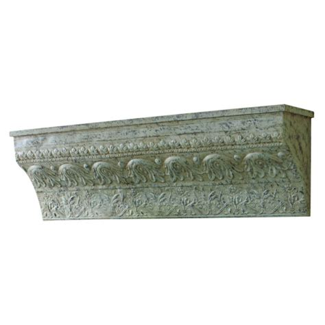 distressed green embossed wall shelf iron midwest cbk