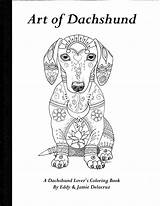 Dachshund Coloring Pages Dachshunds Physical Volume Etsy Template Dog Dogs Chihuahua Drawings Drawing Hound Templates Basset Outline Delacruz Printable Books sketch template