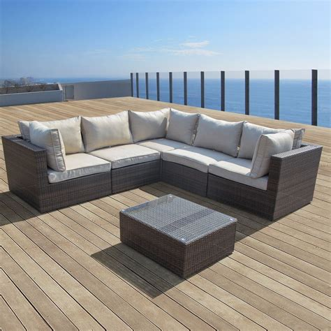 outdoor wicker sectional sofa set supernova outdoor patio 6pc sectional furniture wicker