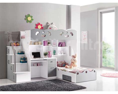 Lit Fille Ikea Pretty Lit Pour Fille Lit Mezzanine Sacha Pour Les Enfants Coloris Blanc Et Gris Avec