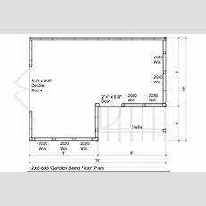12x88x8 Garden Shed Plans With Trellis