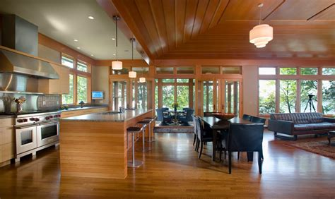 open floor plan     porch contemporary kitchen minneapolis  choice
