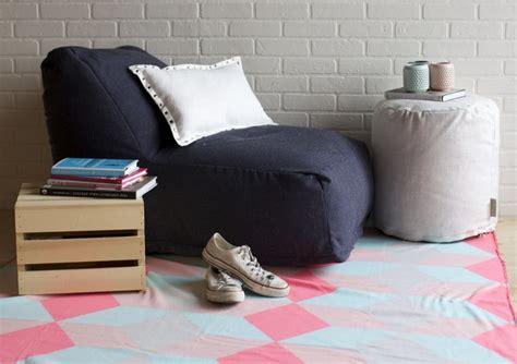 linen twill bean bag lounge chair