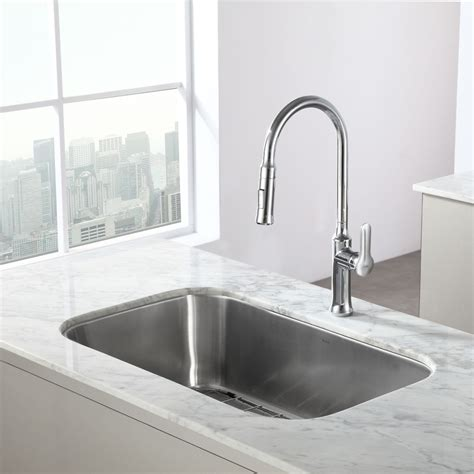 kraus stainless steel kitchen sinks kraus kbu14 kitchen sink stainless steel kitchen sinks 8828