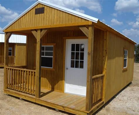 Temporary Sheds by Derksen Portable Treated Cabin With Porch Visit Www