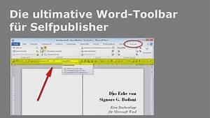 Word Datum Automatisch Berechnen : die ultimative word toolbar f r selfpublisher youtube ~ Themetempest.com Abrechnung