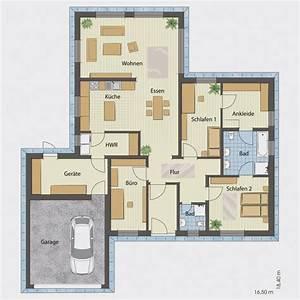 Luxus Bungalow Bauen : bungalow mit integrierter doppelgarage ~ Lizthompson.info Haus und Dekorationen