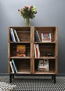 1000 idees sur le theme caisses de pommes sur pinterest With attractive idee deco bureau maison 16 fabriquer une table basse avec des caisses de vin des idees