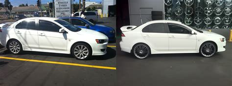 white mitsubishi lancer with black rims 100 mitsubishi lancer 2017 white evo savini wheels