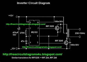 Free Circuit Diagrams 4u  12v To 230v Inverter With Irf 3205