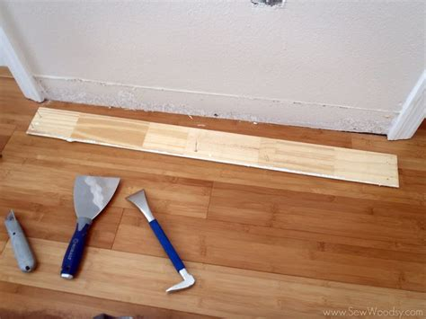 tools needed to remove baseboards how to remove baseboards sew woodsy