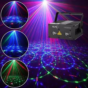 Stage Laser Light Suny Sound Activated Xmas Decor Mixing
