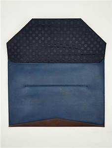 paul smith mens leather envelope document holder in blue With mens document holder
