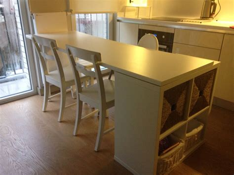 Kitchen Table Hack by Ikea Hack Kitchen Island With Kallax Kitchen Table