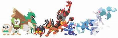 Pokemon Moon Sun Starters Evos Deviantart Firedragonmatty