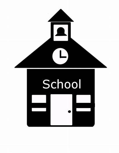 Icon Building Clipart Schoolhouse Icons Vector Montessori