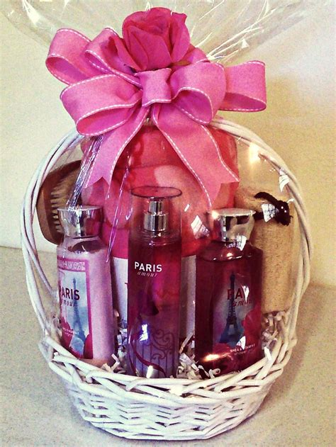 bathroom gift basket ideas scentsational quot paris quot bath body works spa themed gift basket complete with a comfy throw a