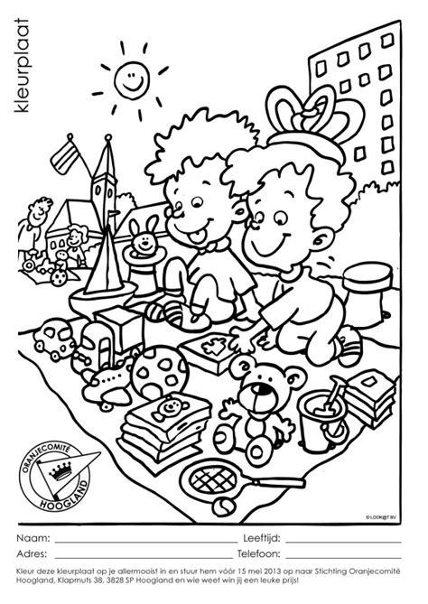 Kleurplaat Ponyrijden by Kleurplaat Insturen Voor 15 Mei 2013 Oranjecomite Hoogland