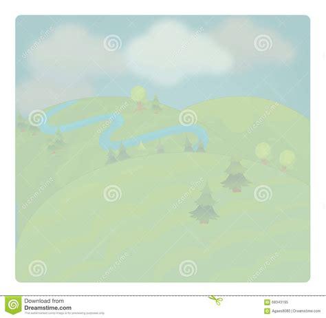 Cartoon Scene With Weather