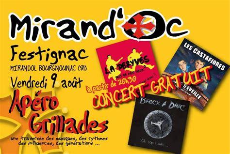batterie de cuisine the rock mirandol bourgnounac 4 heures de concert pour le mirand